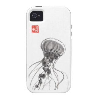 Chrysaora Jellyfish Ink Painting iPhone 4 Cases