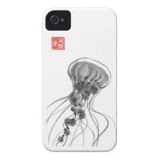 Chrysaora Jellyfish Ink Painting iPhone 4 Covers