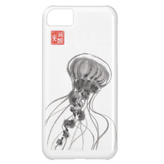 Chrysaora Jellyfish Ink Painting iPhone 5C Cover