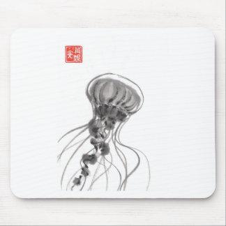 Chrysaora Jellyfish Ink Painting Mousepad