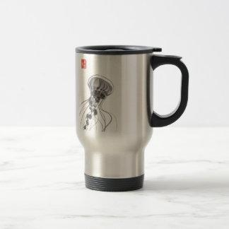 Chrysaora Jellyfish Ink Painting Mug