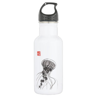 Chrysaora Jellyfish Ink Painting Stainless Steel Water Bottle