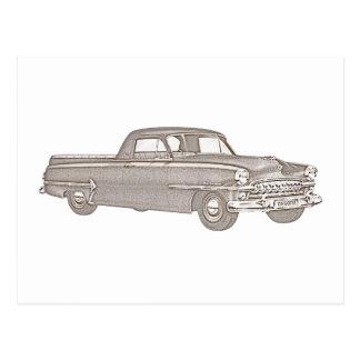 Chrysler 1937  DeSoto Coupe Utility Postcard