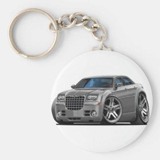 Chrysler 300 Grey Car Basic Round Button Keychain