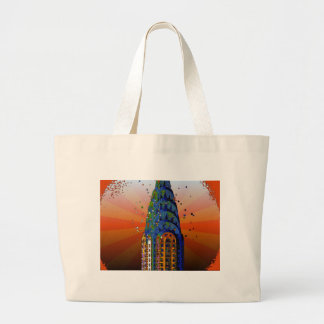 Chrysler Building #5 - Psychedelic Style Canvas Bag