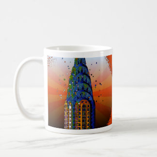 Chrysler Building #5 - Psychedelic Style Coffee Mug