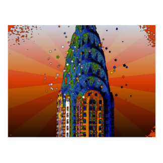 Chrysler Building #5 - Psychedelic Style Postcard