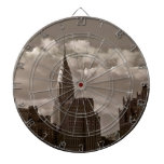 Chrysler Building and New York Skyline Dart Boards