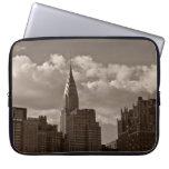 Chrysler Building and New York Skyline Laptop Sleeve