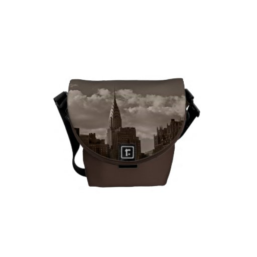 Chrysler Building and New York Skyline Messenger Bag