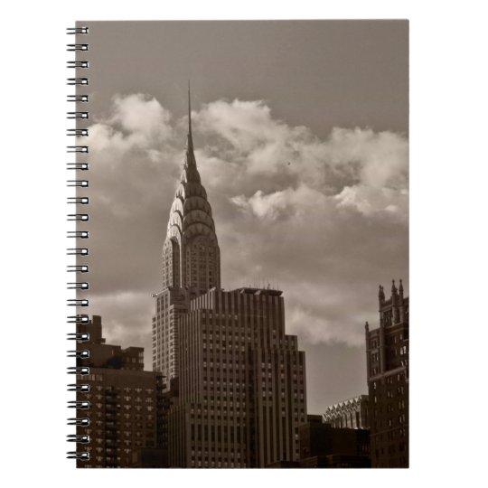Chrysler Building and New York Skyline Notebook