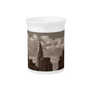 Chrysler Building and New York Skyline Pitchers