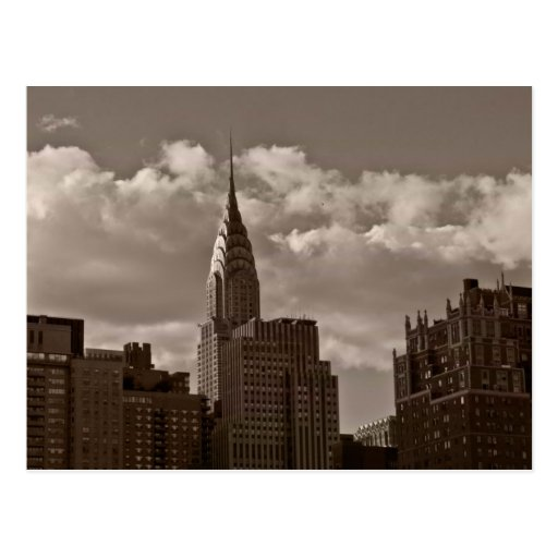 Chrysler Building and New York Skyline Post Card