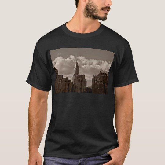 Chrysler Building and New York Skyline T-Shirt