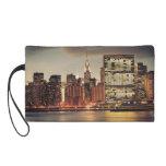 Chrysler Building and NYC Skyline Wristlet Purse