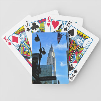 Chrysler Building Bicycle Playing Cards