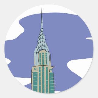 Chrysler Building Classic Round Sticker