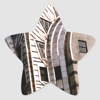 Chrysler Building: Close Up View Star Sticker