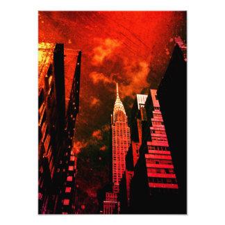 Chrysler Building - Distant Past - New York City Photo Print