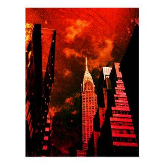 Chrysler Building - Distant Past - New York City Postcard