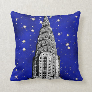 Chrysler Building Dome and a Starry Blue Sky Throw Pillow