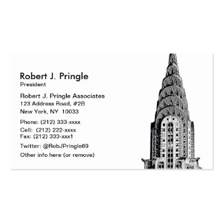 Chrysler Building Dome Business Card Template