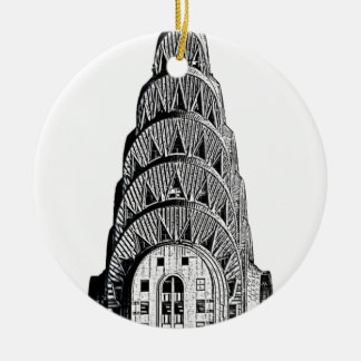 Chrysler Building Dome Double-Sided Ceramic Round Christmas Ornament