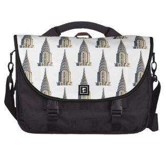 Chrysler Building Dome Pattern Black on White Bag For Laptop