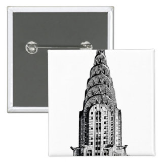 Chrysler Building Dome Pinback Button