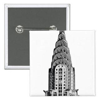 Chrysler Building Dome Pinback Button