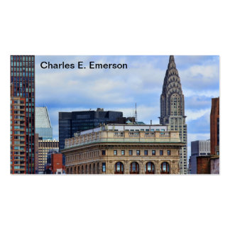 Chrysler Building, Flatiron, Blue Sky, Clouds Business Card Template