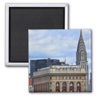 Chrysler Building, Flatiron, Blue Sky, Clouds 2 Inch Square Magnet