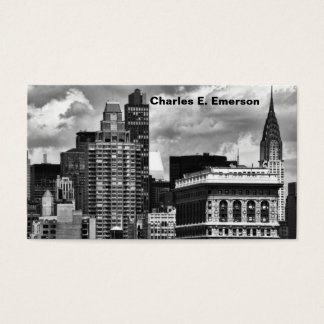 Chrysler Building, Flatiron Building, Sky House BW Business Card