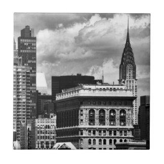 Chrysler Building, Flatiron Building, Sky House BW Ceramic Tile