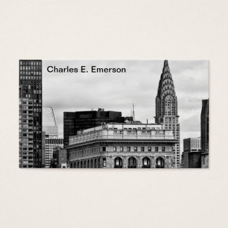 Chrysler Building, Flatiron, Clouds B&W Business Card