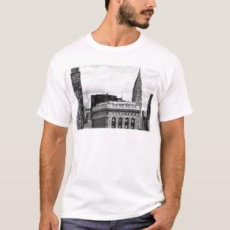 Chrysler Building, Flatiron, Clouds B&W T-Shirt