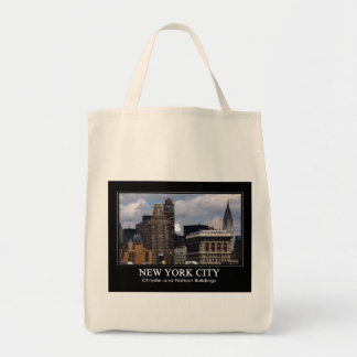 Chrysler Building, Flatiron with clouds 2C Tote Bag