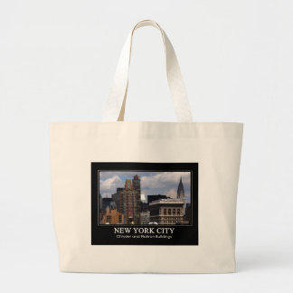 Chrysler Building, Flatiron with clouds 2C Canvas Bags