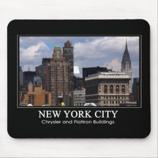 Chrysler Building, Flatiron with clouds 2C Mouse Pad