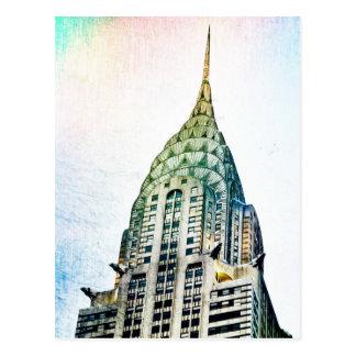 Chrysler Building - Frozen - New York City Postcard