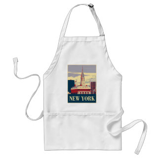 Chrysler Building in Red White Blue Aprons