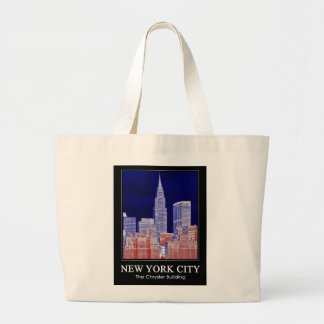 Chrysler Building Met Life Seen From East River 1C Canvas Bags