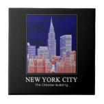 Chrysler Building Met Life Seen From East River 1C Ceramic Tile