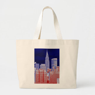 Chrysler Building, Met Life Viewed From East River Canvas Bags