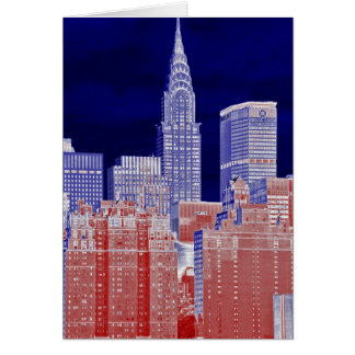 Chrysler Building, Met Life Viewed From East River Greeting Card
