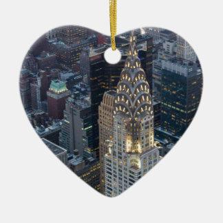 Chrysler Building New York City Aerial Skyline NYC Ceramic Ornament