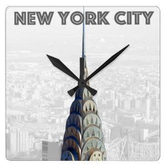Chrysler Building New York City Square Wall Clock