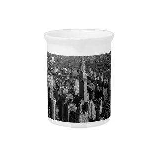 Chrysler Building New York Manhattan Beverage Pitcher