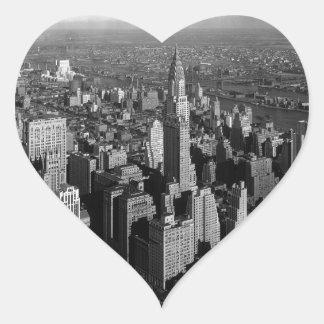 Chrysler Building New York Manhattan Heart Sticker