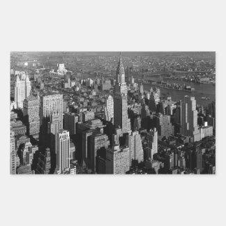 Chrysler Building New York Manhattan Rectangular Sticker